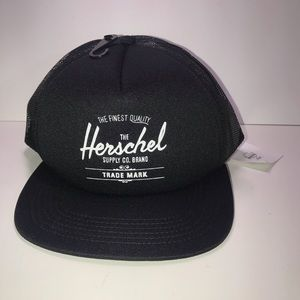 NWT Black Herschel Trucker Hat